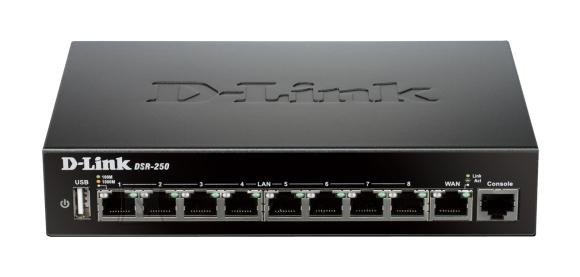 D-Link D-Link DSR-250 Ethernet LAN (RJ-45) ports 8, Warranty 24 month(s)