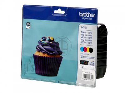 Brother Brother LC-123 Ink Cartridge, Black, Cyan, Magenta, Yellow