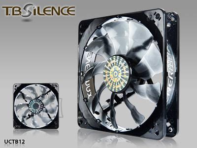 T.B Silence 120 mm case ventilation fan, Twister cooling series, low-noise Profile, 100.000 hours MTBF, 3 pin Enermax
