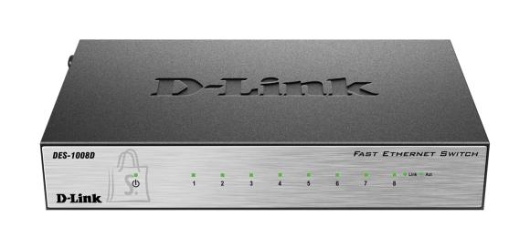 D-Link D-Link Switch DES-1008D Unmanaged, Desktop, 10/100 Mbps (RJ-45) ports quantity 8, Power supply type Single