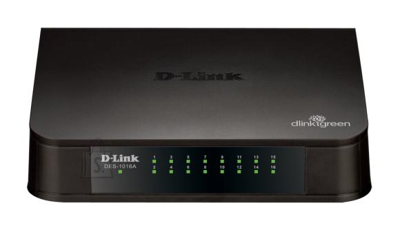 D-Link D-Link Switch DES-1016A Unmanaged, Desktop, 10/100 Mbps (RJ-45) ports quantity 16, Power supply type Single
