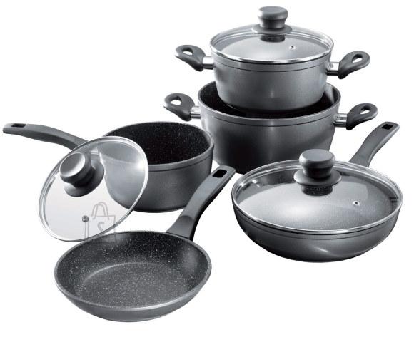Stoneline Stoneline 1 sauce pan, 1 stewing pan, 1 frying pan, die-cast aluminium, black,