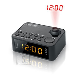 Muse Muse Clock radio  M-178P Black, 0.9 inch amber LED, with dimmer
