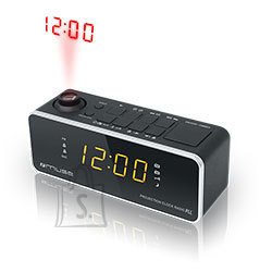 Muse Muse Clock radio  M-188P Black, 0.9 inch amber LED, with dimmer