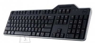 Dell Dell KB-813 Keyboard layout Qwerty, Black, with smart card reader, Russsian