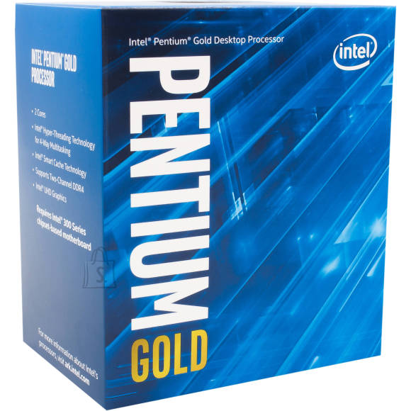 Intel Intel G5400, 3.7 GHz, LGA1151, Processor threads 4, Packing Retail, Cooler included, Processor cores 2, Component for PC