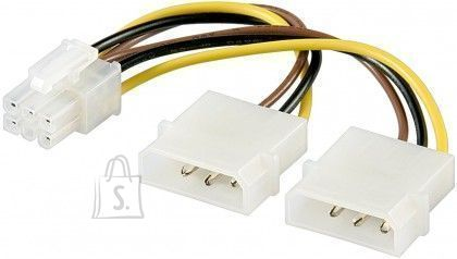 Goobay Goobay 51360 Power cable/adapter for PC graphics card; 6-pin PCI-E/PCI Express, 0.15 m