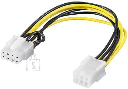 Goobay Goobay 93635 Power cable/adapter for PC graphics card; PCI-E/PCIExpress; 6-pin to 8-pin, 0.2m