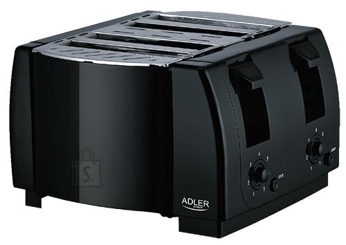 Adler Adler Toaster AD 3211 Black, Plastic, 1300 W, Number of slots 4,