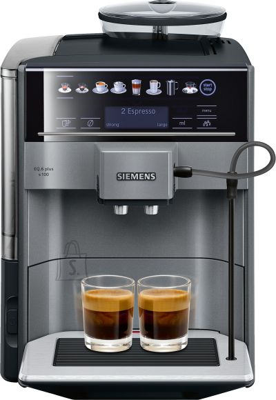Siemens SIEMENS Coffee Machine TE651209RW Pump pressure 15 bar, Built-in milk frother, Fully automatic, 1500 W, Black/ stainless steel
