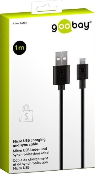 Goobay Goobay 66436 Micro USB charging and sync cable, 1 m, black