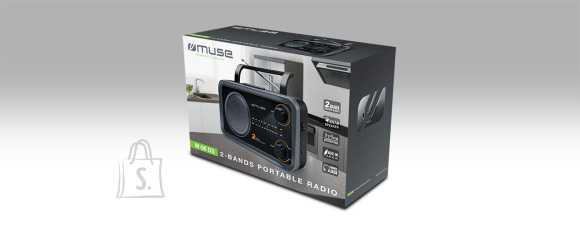 Muse Muse 2-bands portable radio M-06DS Grey, AUX in