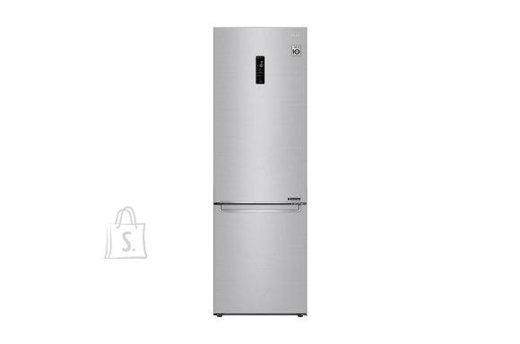 LG LG Refrigerator GBB71NSDFN Energy efficiency class D, Free standing, Combi, Height 186 cm, No Frost system, Fridge net capacity 234 L, Freezer net capacity 107 L, Display, 36 dB, Noble steel
