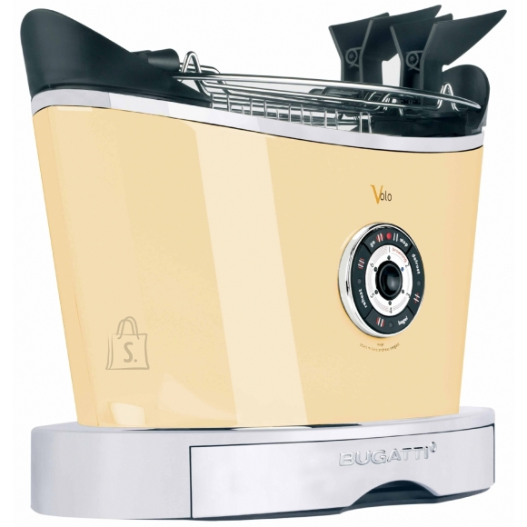 Bugatti Bugatti Volo Toaster 13-VOLOC Cream, Steel, 930 W, Number of slots 2, Number of power levels 6, Bun warmer included