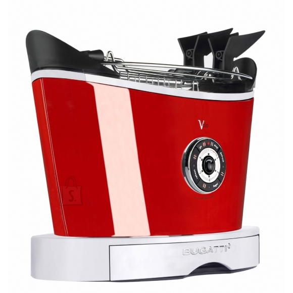 Bugatti Bugatti Volo Toaster 13-VOLOC3 Red, Steel, 930 W, Number of slots 2, Number of power levels 6, Bun warmer included