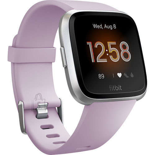 Fitbit Fitbit Versa Lite Fitness Tracker FB415SRLV LCD, Lilac/Silver Aluminum, Touchscreen, Bluetooth, Built-in pedometer, Heart rate monitor, Waterproof