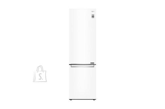 LG LG Refrigerator GBB72SWEFN Energy efficiency class D, Free standing, Combi, Height 203 cm, No Frost system, Fridge net capacity 277 L, Freezer net capacity 107 L, Display, 36 dB, Super White