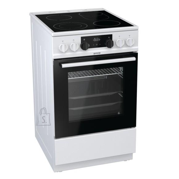 Gorenje Gorenje Cooker EC5351WA Hob type Vitroceramic, Oven type Electric, White, Width 50 cm, Electronic ignition, 70 L, Depth 60 cm