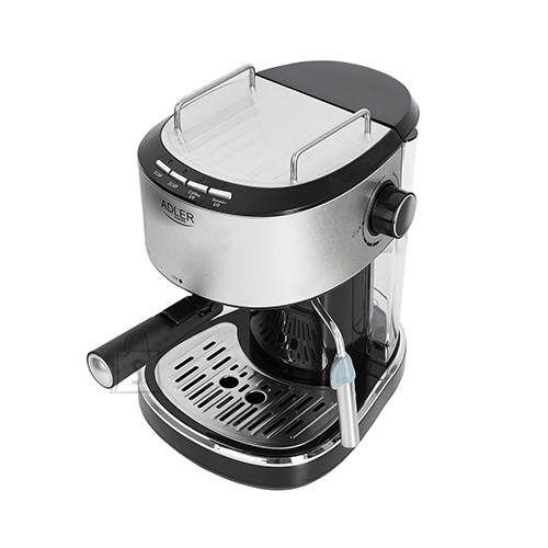 Adler Adler Espresso Coffee maker AD 4408 Pump pressure 15 bar, Built-in milk frother, Semi-automatic, 850 W, Stainless steel/Black