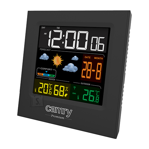 Camry Camry Weather station CR 1166 Black, Date display