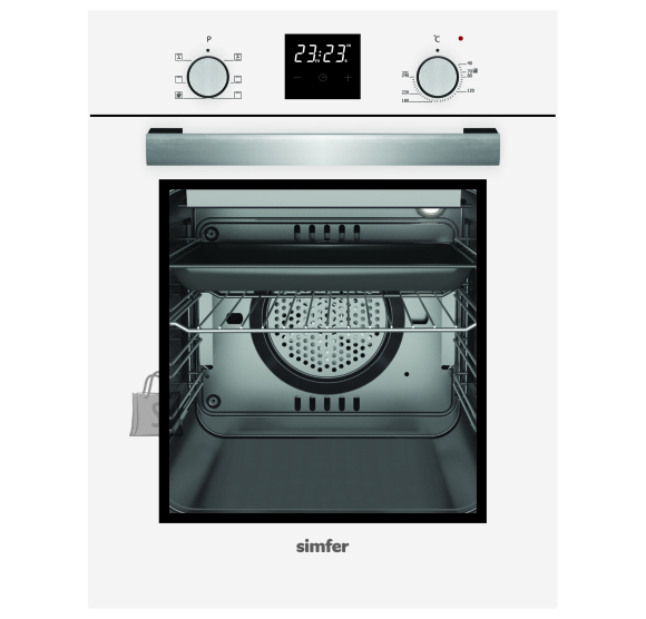 Simfer Simfer Oven 4207BERBB 47 L, White, Easy to clean, Pop-up knobs, Width 45 cm, Built in