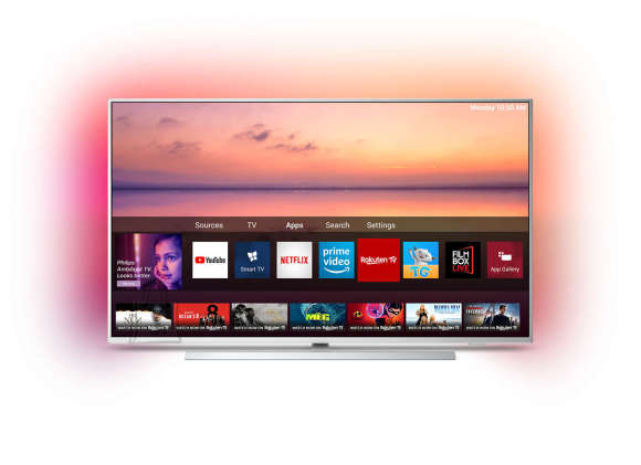 "Philips Philips 50PUS6804/12 50"" (126 cm), Smart TV, UHD LED, 3840 x 2160 pixels, Wi-Fi, DVB-T/T2/T2-HD/C/S/S2, Silver"