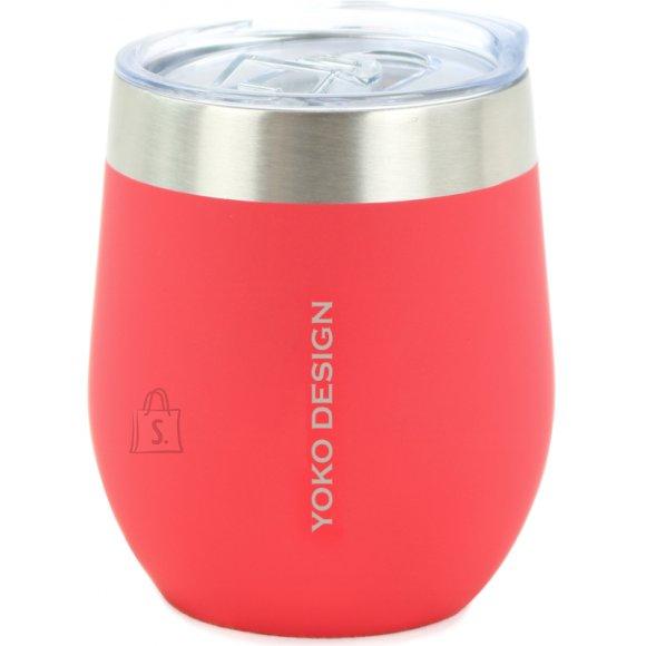 Yoko Design Yoko Design Isotherm mug with cup Isothermal, Red, Capacity 0.25 L, Bisphenol A (BPA) free
