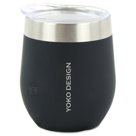 Yoko Design Yoko Design Isotherm mug with cup Isothermal, Black, Capacity 0.25 L, Bisphenol A (BPA) free