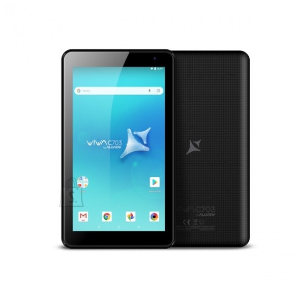"""Allview Allview VIVA C703 7 """", Black, Touch, 1024 x 600 pixels, Cortex A7, 1 GB, 8 GB, Wi-Fi, Bluetooth, 4.0, Android, 8.1"""