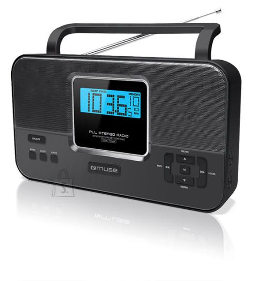 Muse Muse M-087R Black, 2-band PLL stereo portable radio
