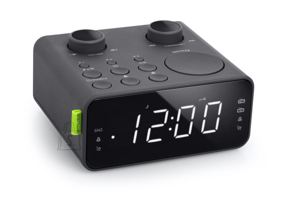 Muse Muse Clock radio PLL M-17CR Black, AUX in