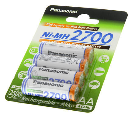 Panasonic Panasonic AA/HR6, 2450 mAh, Rechargeable Batteries Ni-MH