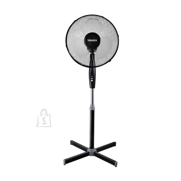 Termozeta TZWZ02 Stand Fan, Number of speeds 3, 50 W, Oscillation, Black