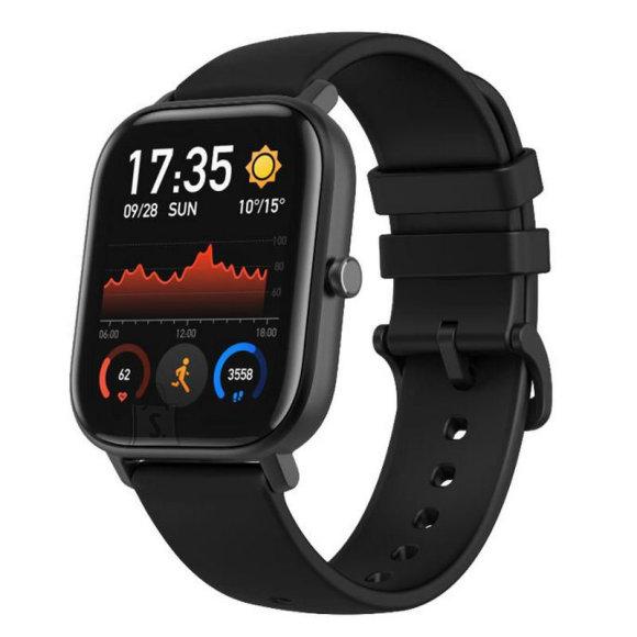 Amazfit Smart Watch GTS Obsidian Black, 24/7, 220 mAh, Touchscreen, Bluetooth, Heart rate monitor, GPS (satellite), Waterproof