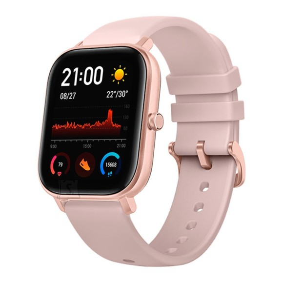 Amazfit Smart Watch GTS Rose Pink, 24/7, 220 mAh, Touchscreen, Bluetooth, Heart rate monitor, GPS (satellite), Waterproof