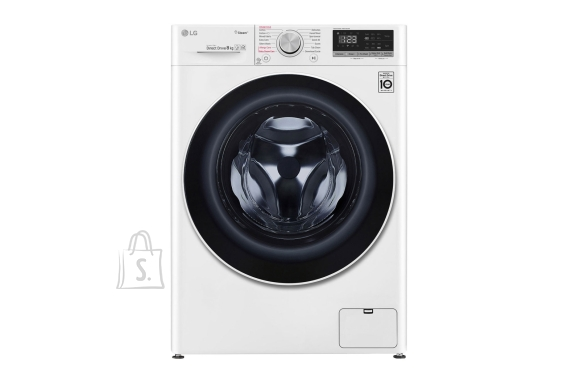 LG LG Washing machine F4WN408S0 Front loading, Washing capacity 8 kg, 1400 RPM, Direct drive, A+++ -30%, Depth 56 cm, Width 60 cm, White, Steam function, LED touch screen, Display, Wi-Fi