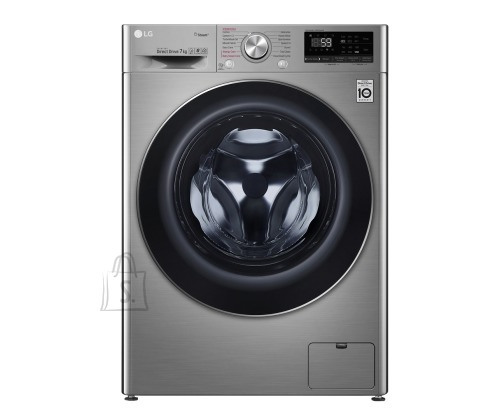 LG LG Washing machine F2WN6S7S2T Front loading, Washing capacity 7 kg, 1200 RPM, Direct drive, A+++ -20%, Depth 45 cm, Width 60 cm, Chrome, Steam function, LED touch screen, Display, Wi-Fi