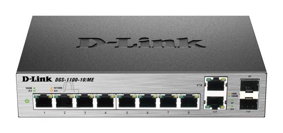 D-Link D-Link Metro Ethernet Switch DGS-1100-10/ME Managed L2, Desktop, 1 Gbps (RJ-45) ports quantity 8, Combo ports quantity 2, Power supply type Single