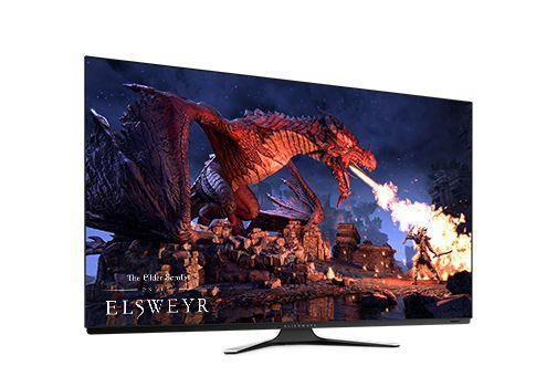 """Dell Dell Alienware OLED Gaming Monitor AW5520QF 55 """", UHD, 3840 x 2160, 16:9, 0.5 ms, 400 cd/m?, Black, silver"""