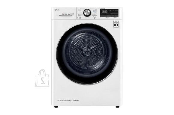 LG LG Dryer Machine RC80V9AV3Q Energy efficiency class A+++, Front loading, 8 kg, Heat pump, LED touch screen, Depth 69 cm, Wi-Fi, White