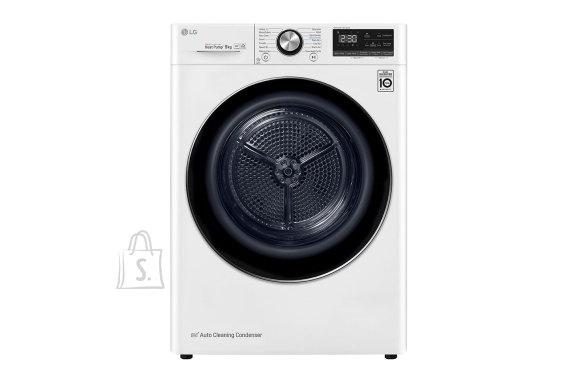 LG LG Dryer Machine RC90V9AV2Q Energy efficiency class A+++, Front loading, 9 kg, Heat pump, LED touch screen, Depth 69 cm, Wi-Fi, White