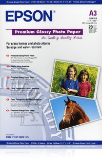 Epson Epson Premium Glossy Photo Paper A3, 250g/m2, 20 sheets