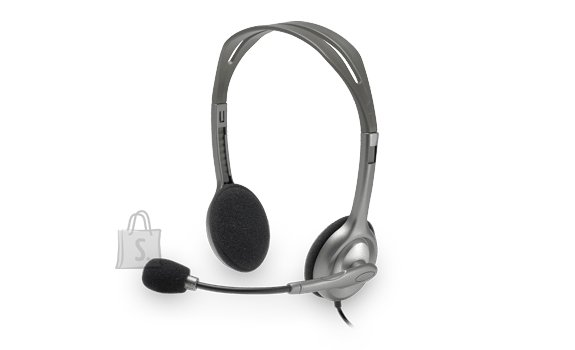 Logitech Logitech Stereo headset H111 Single 3.5 mm jack, Grey, Built-in microphone