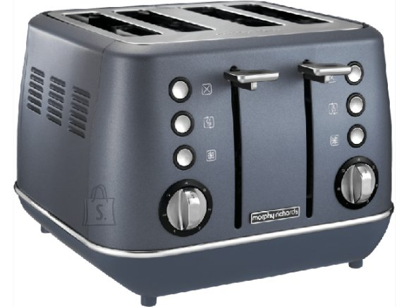 Morphy Richards Morphy richards Evoke Toaster  240102 Power 1800 W, Number of slots 4, Housing material Stainless steel, Steel Blue