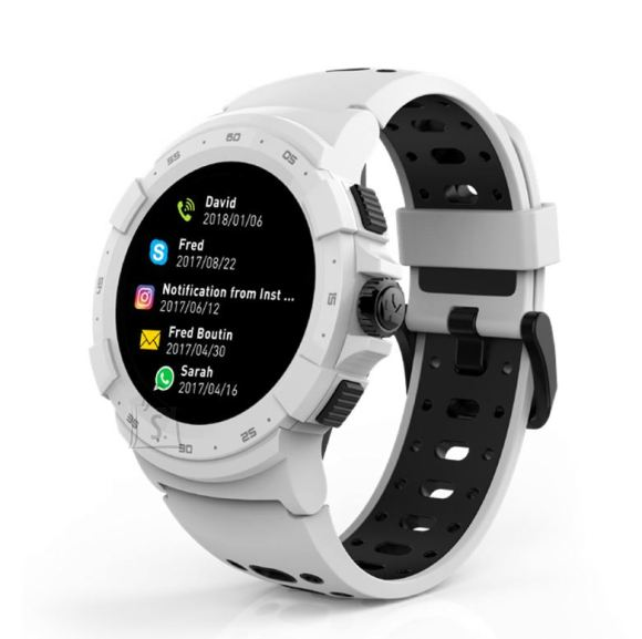MyKronoz MyKronoz Zesport 2 460 mAh, Smartwatch, Touchscreen, Bluetooth, Heart rate monitor, White, GPS (satellite),