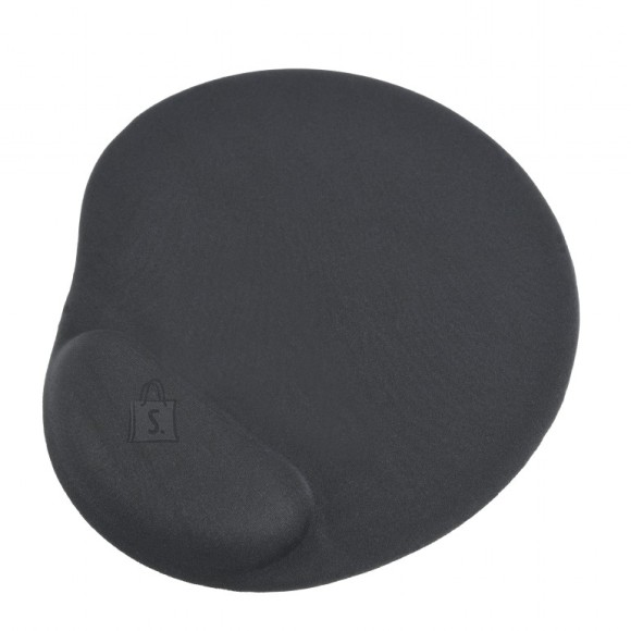 Gembird Gembird Gel mouse pad with wrist support Black, 240 x 220 x 4 mm