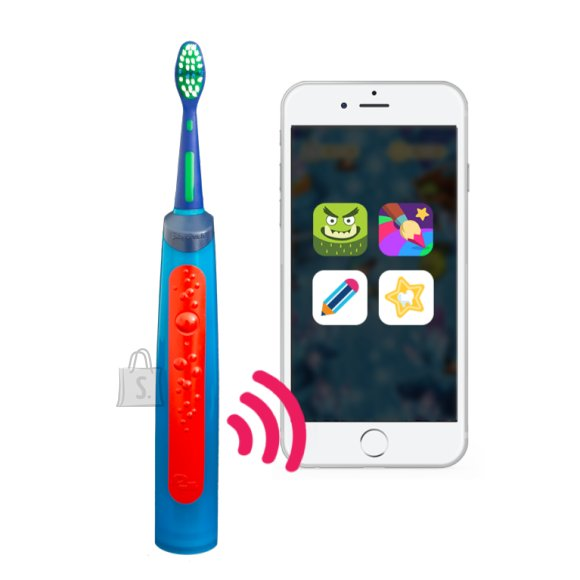 Playbrush Toothbrush Smart Sonic For kids, Rechargeable, Sonic technology, Teeth brushing modes 2, Number of brush heads included 1, Blue