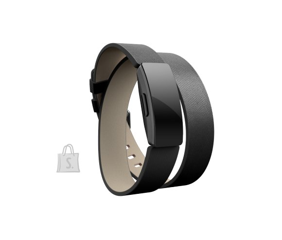 Fitbit Fitbit Inspire Accessory Double Leather Wrap, one size, black