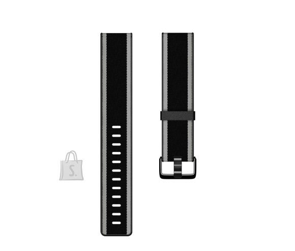 Fitbit Fitbit  Versa-Lite Woven Hybrid Band, large, black/gray
