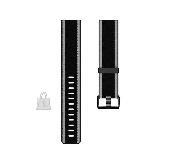 Fitbit Fitbit  Versa-Lite Woven Hybrid Band, small, black/gray